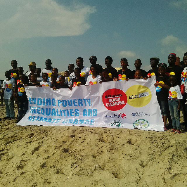 COP 21: Campaigners hold Lagos Climate March/Beach Cleanup