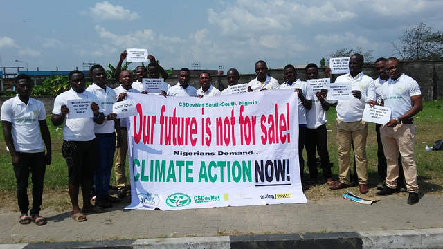 CSDevNet takes Peoples Climate March to Port Harcourt ahead of COP21