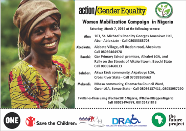 2015 International Women's Day Across Nigeria with action2015Nigeria Partners